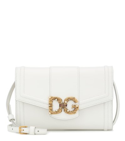 Dg Amore Leather Clutch - Dolce & Gabbana | Mytheresa