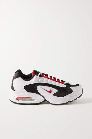 Air Max Triax Mesh, Faux Leather And Felt Sneakers - White