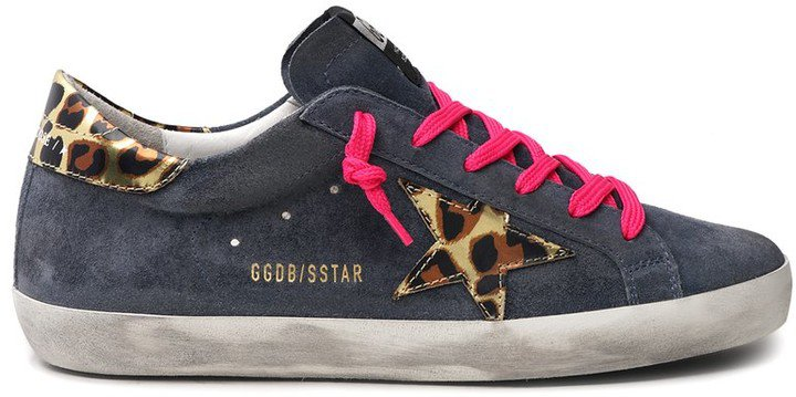 Superstar Sneaker in Grey Blue/Gold Black Leo