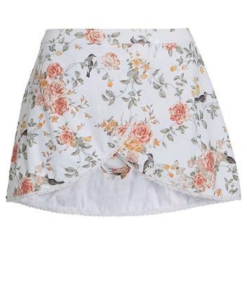 WeWoreWhat Floral Toile Skirt Bikini Bottoms   INTERMIX®