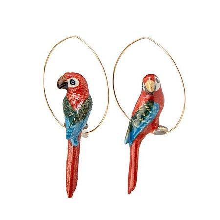 Exotic Birds Hoop Collection   Statement jewelry, Handmade earrings   UncommonGoods