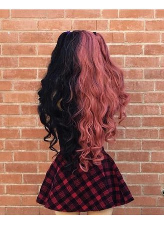 Half black Half pink