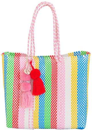 Soi 55 - Beatriz Shopper Tote Rainbow Stripe