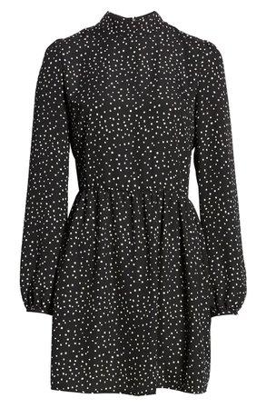 BP. Print Mock Neck Long Sleeve Dress | Nordstrom