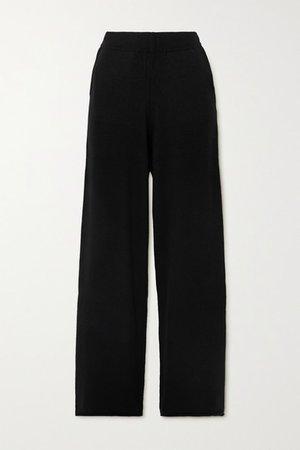 Tioman Ribbed Cashmere Straight-leg Pants - Black