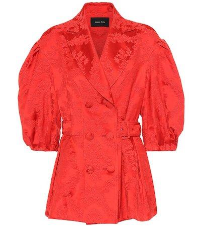Jacquard cotton blend blazer
