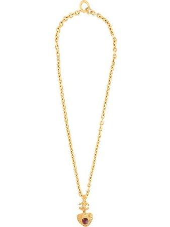 Chanel Vintage Stone Triangle Necklace - Farfetch