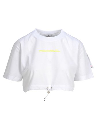 Marcelo Burlon Label Crop Tshirt
