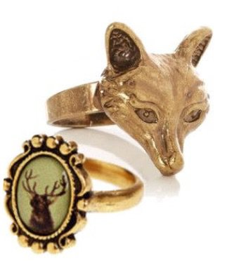 stag and fox rings