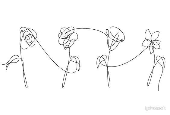 BTS LYS flowers png aesthetic
