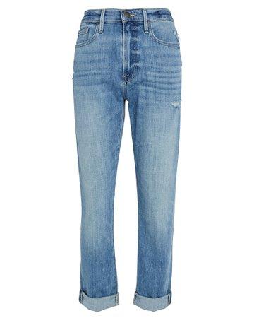FRAME | Le Beau Straight Cuffed Jeans | INTERMIX®