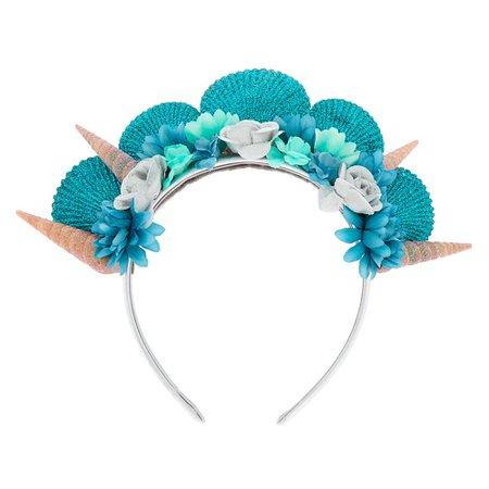 Mermaid Seashell Headband - Turquoise