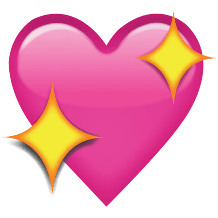 Download Sparkling Pink Heart Emoji Icon | Emoji Island