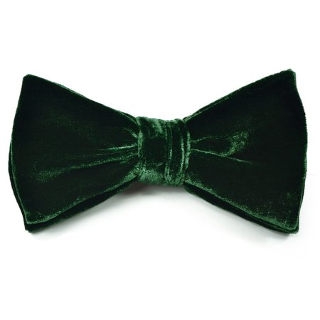dark green velvet bow