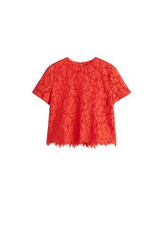 MANGO Lace top