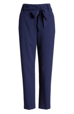 Halogen® Tie Waist Twill Pants (Petite)   Nordstrom