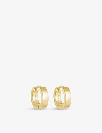 MISSOMA - Chubby 18ct yellow gold-plated vermeil sterling-silver huggie earrings | Selfridges.com