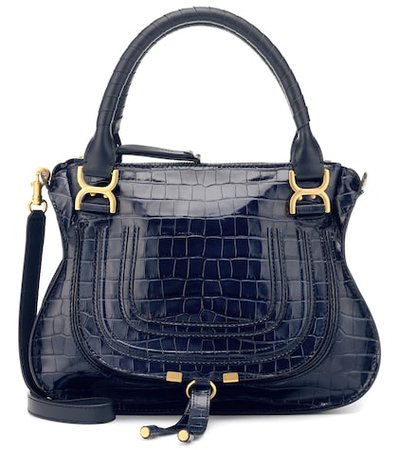 Marcie croc-effect leather tote