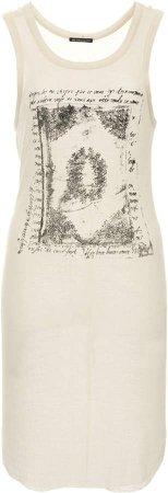 Ann Demeulemeester Printed Jersey Tank Top