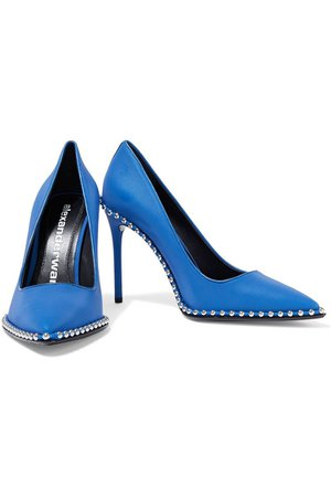 Blue Rie studded Iridescent shell pumps | Sale up to 70% off | THE OUTNET | ALEXANDER WANG | THE OUTNET