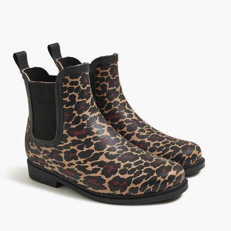 Leopard Chelsea rain boots