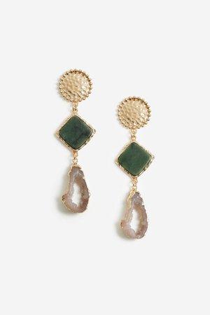 **Two Stone Drop Earrings | Topshop