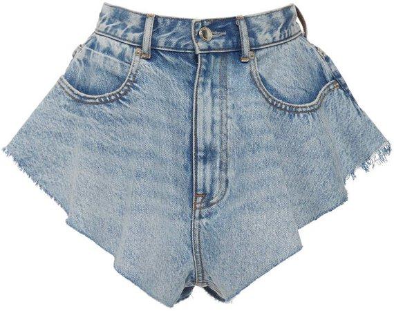 Runway Ruffled Denim Shorts