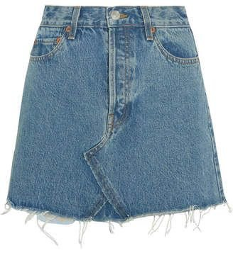RE/DONE Originals Distressed Denim Mini Skirt