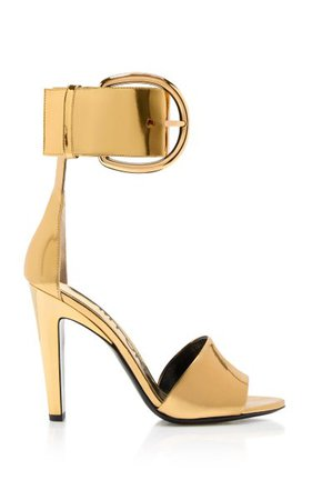 Mirrored Buckle Embellished Leather Sandals By Tom Ford | Moda Operandi