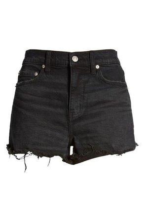DAZE Troublemaker High Waist Cutoff Denim Shorts (Backseat) | Nordstrom