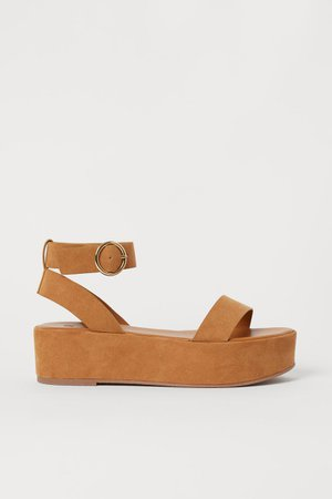 Sandalias de plataforma - Café claro - Ladies   H&M US