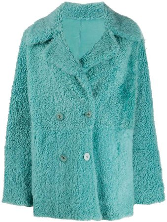 double-breasted reversible coat