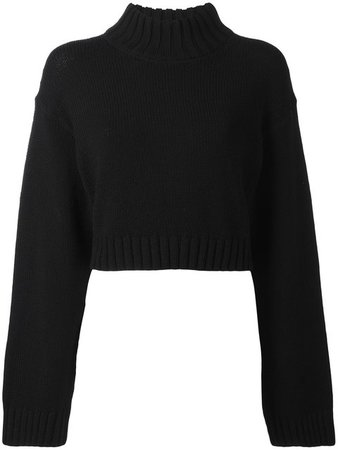 DKNY Cropped Black Jumper