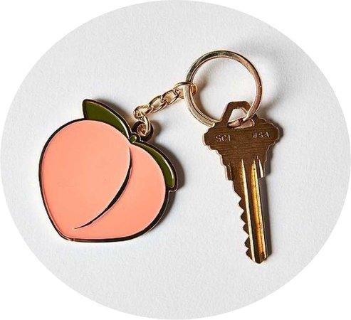 peach keychain