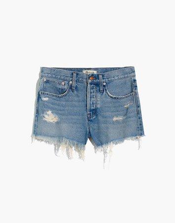 Relaxed Denim Shorts in Foxglen Wash blue