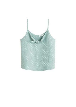 MANGO Strap linen top