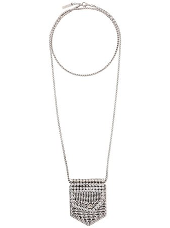 Ermanno Scervino Embellished Pouch Necklace - Farfetch