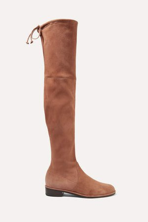 Lowland Suede Over-the-knee Boots - Light brown