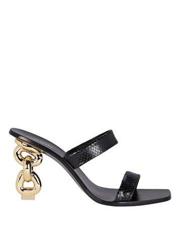 Cult Gaia Vivianne Leather Slide Sandals | INTERMIX®