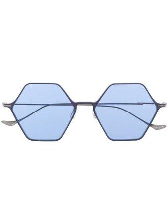 Yohji Yamamoto Geometric Frame Sunglasses - Farfetch