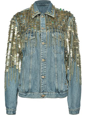 Pinko Sequinned Denim Jacket - Farfetch