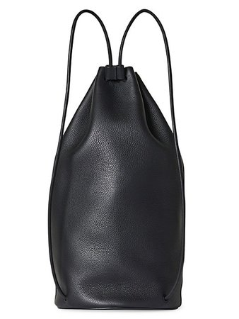 The Row Massimo Leather Backpack | SaksFifthAvenue
