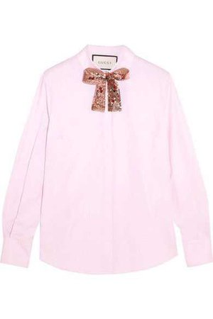Gucci - Embellished Cotton Poplin Shirt