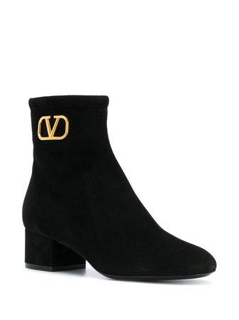 Valentino Valentino Garavani VLOGO 50mm Ankle Boots - Farfetch