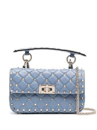 Shop blue Valentino Garavani Rockstud Spike tote bag with Express Delivery - Farfetch