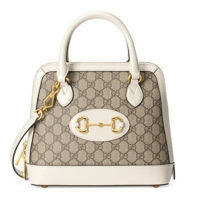 Beige Gucci 1955 Horsebit small top handle bag | GUCCI® US