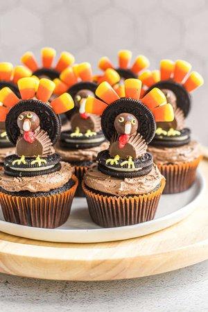 Thanksgiving Turkey Cupcakes | Brown Eyed Baker