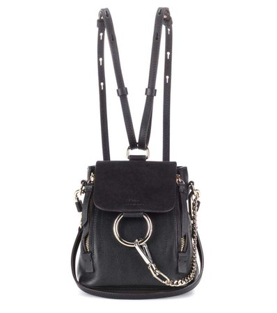 Faye Mini Leather And Suede Backpack - Chloé   mytheresa