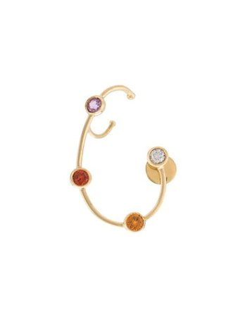 Ana Khouri jewelled wire earring yellow & metallic USA1574NET - Farfetch