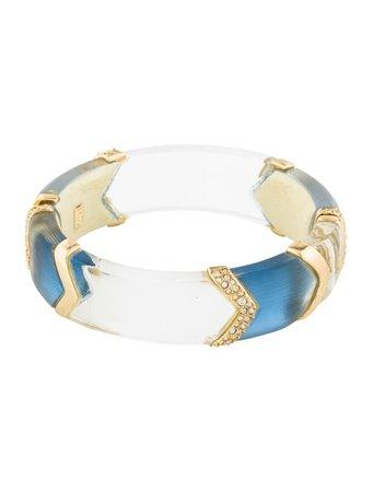 Alexis Bittar Crystal Chevron Lucite Hinge Bracelet - Bracelets - WA540292 | The RealReal